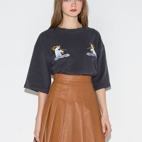 Electric Polar Bear Embroidered Top
