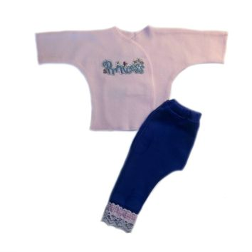 Baby Girls' Pink Princess 2 Piece Pants Clothing Set