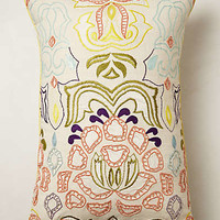 Anthropologie - Beaded Water Lily Pillow