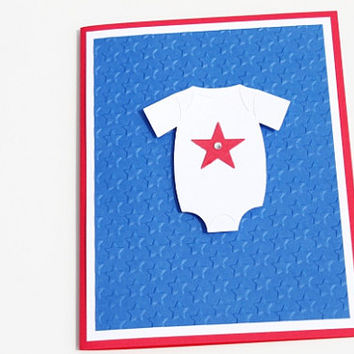 4th of July Baby Card