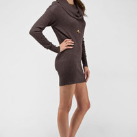 Cowl Neck Knit Dress in Thistle :: tobi