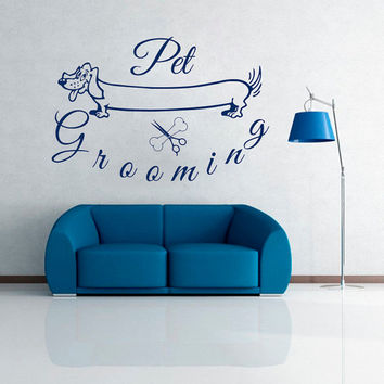 Wall Decals Domestic  Animals Pet Grooming Pets Dog Dogs Vinyl Decal Sticker Home Decor Design Veterinary Shop Grooming Salon Murals ML92
