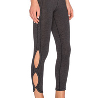 Infinity Legging in Charcoal & Black