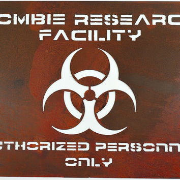 Zombie Sign - Zombe Research Facility