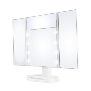 Touch Screen LED Vanity TriFold Makeup Mirror