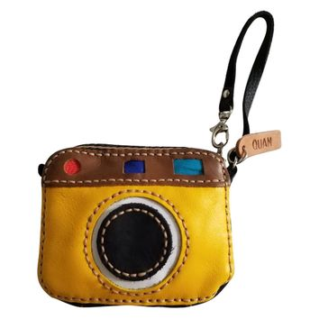 Rafa Leather Coin Purse Wallet, Gifts for Photographer and Selfie Lover