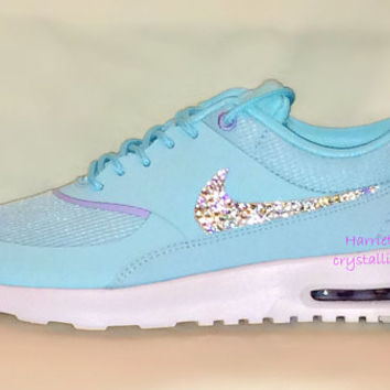 Women's Nike Air Max Thea in Glacier Ice with Swarovski crystal details