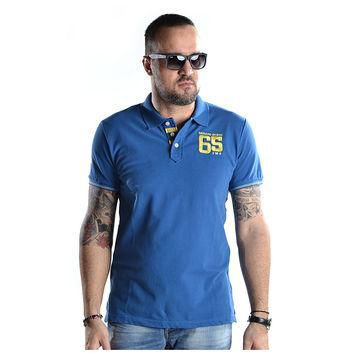 MEN T-SHIRT POLO - 16001-964-06-blue