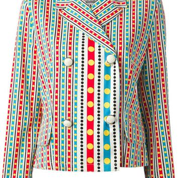 Gianni Versace Vintage striped and dotted jacket