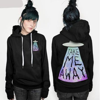 Take Me Away - UFO Alien Women's Hoodie Sweater