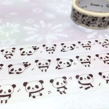 panda washi tape 5M cute panda dancing panda masking tape panda theme sticker tape kawaii animal panda decor tape scrapbook gift wrapping