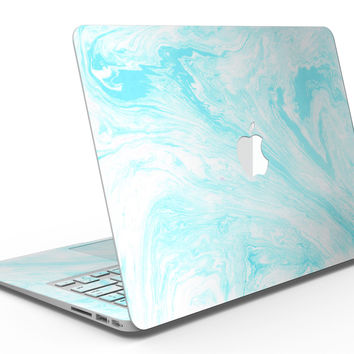 Bright Blue Textured Marble - MacBook Air Skin Kit