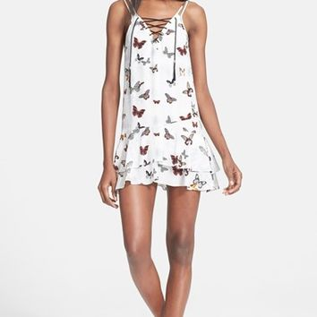 Women's The Kooples Butterfly Print Silk Dress
