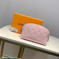 Kuyou Gb1986 Louis Vuitton Lv M90172 Pink Monogram Vernis Leather Travel All Collections  Cosmetic Pouch 19.0x 12.0x 6.0 Cm