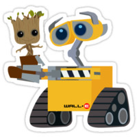 Wall-E and Groot by Woody2015