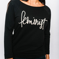 Feminist Black Sweatshirt