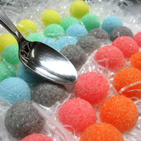 3 Dozen Sugar Dots Cubes Rainbow Colored for Little Tea Parties, Garden Party, Showers, Graduation