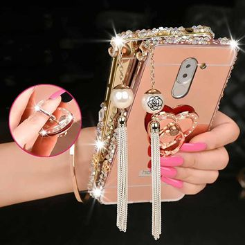 2018 NEW Handmade Diamond Black Friday Mirror Cover +Aluminum Bumper Metal Case Skin Cover Phone Case Cover Stylo 3 Stylo 3 plus