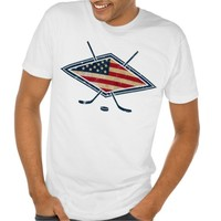 American Hockey Flag Logo T-shirt