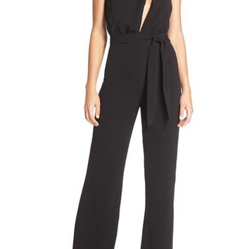 Misha Collection 'Caprice' Cutout Halter Jumpsuit | Nordstrom