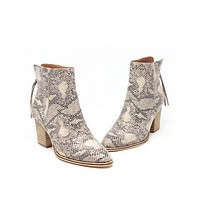 Off The Edge Bootie - Snake