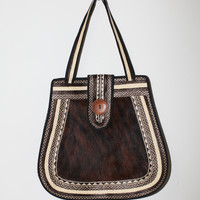 Straw And Fur Bag (Small/Indie Brands)