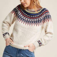 Compania Fantastica Fuzzy Does It Sweater in M