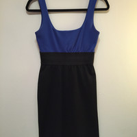 Necessary Objects Blue And Black Colorblock Dress