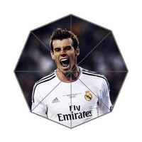 Real Madrid Final Champions League Custom Rain Foldable Travel Umbrella