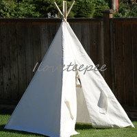 white kids teepee tent, childrens play tent indoor & outdoor
