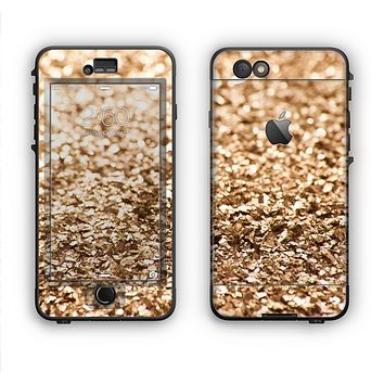 The Gold Glimmer V2 Apple iPhone 6 LifeProof Nuud Case Skin Set