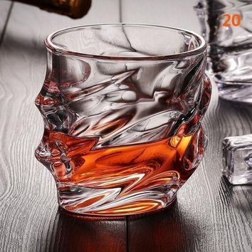 MDIGFS2 Bling Diamond Crystal Wine Glass Lead-free High Capacity Whiskey Vodka Beer Drinking Cup