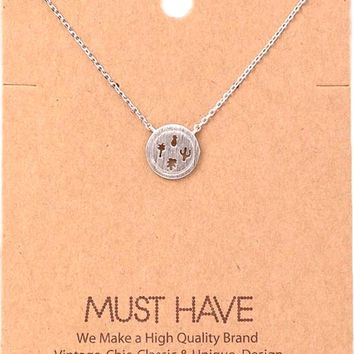 Must Have-Outdoor Lover Pendant Necklace, Silver