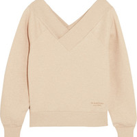 Burberry - Off-the-shoulder stretch cotton-blend sweatshirt