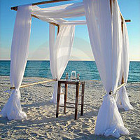 Beach Wedding Bamboo Arch/Chupph And Fabric Draping Kit