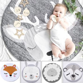 INS Baby Infant Play Mats Room Decoration Kids Crawling Carpet Floor Rug Baby Bedding Rabbit Blanket Cotton Game Pad Children