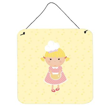 Blonde Baker on Yellow Wall or Door Hanging Prints BB7294DS66