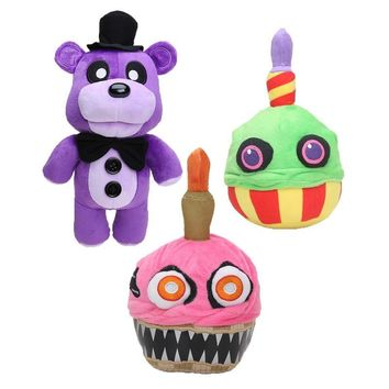 20cm -38cm   At  Golden Freddy Fazbear Nightmare Fredbear Mangle Foxy BB Balloon boy Clown Plush Toys