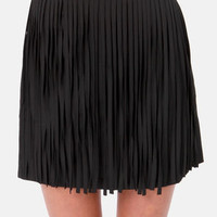 Girl's Best Fringe Black Fringe Skirt