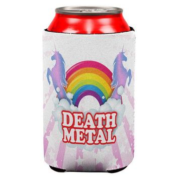 ICIK8UT Death Metal Rainbow All Over Can Cooler