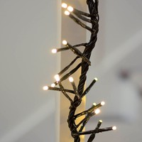 Commercial LED Supernova Garland, 2 ft Black Wire, Multifunction, Warm White