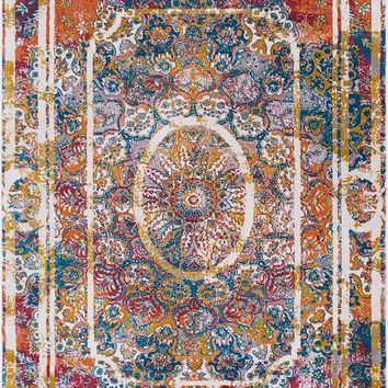 2919 Multi-Color Distressed Oriental Area Rugs