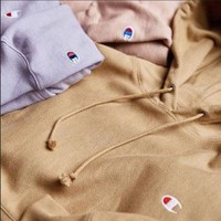 Champion Classic C embroidered hooded hoodie Sweater