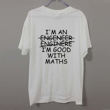 Casual Math Geek Engineer Engineering Gift Ideas T Shirts Short Sleeve Graphic O-Neck Mens Funny Professor Tees T-shirt
