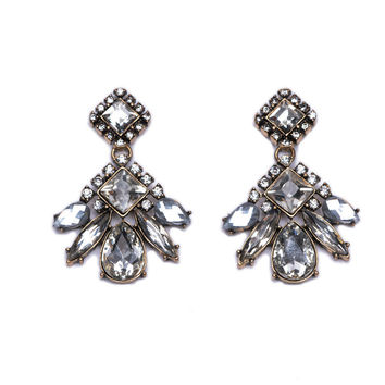 Crystal CZ Diamond Dangle Earrings Women Bohemian Earrings Kendra Vintage Statement Earrings