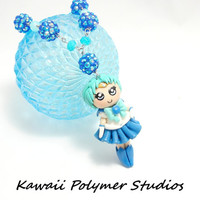 Kawaii Sailor Mercury Chibi Necklace