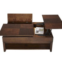 Daytona Contemporary Double Lift-Top Cocktail Table Regal Walnut