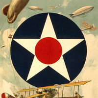 WWI Poster Join The Air Service Learn Earn / W.Z. ; Forbes, Boston.