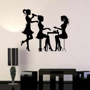 Vinyl Wall Decal Beauty Hair Salon Spa Stylist Stickers Mural Unique Gift (ig3702)
