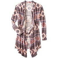 Xhilaration® Juniors Printed Open Cardigan - Assorted Colors